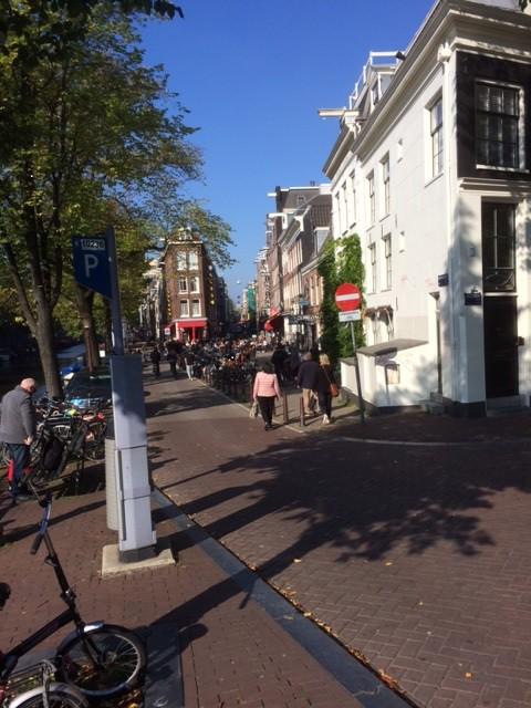 Amsterdamin katuvilinää.
